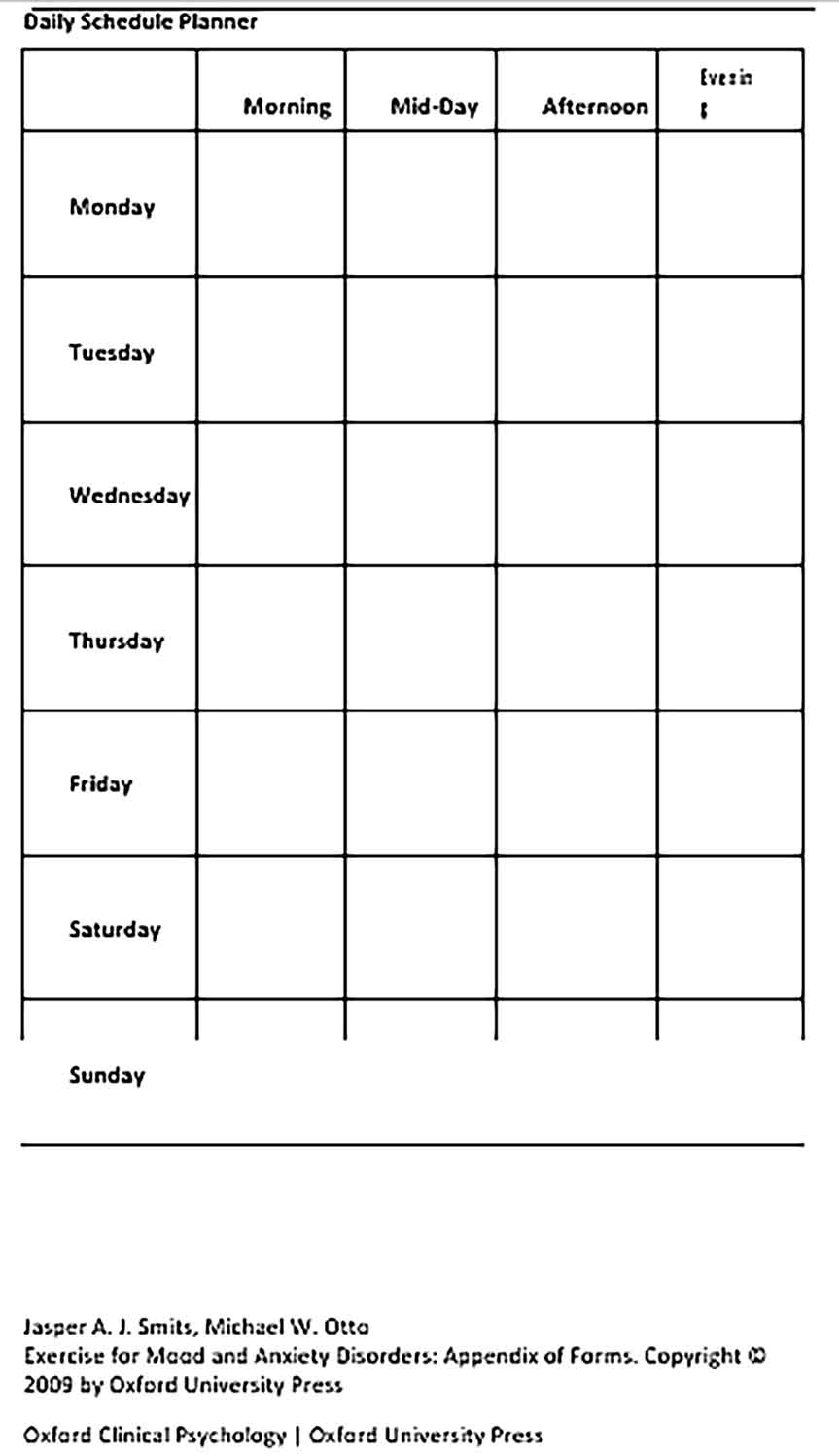 Template Daily Schedule Planner Sample Copy