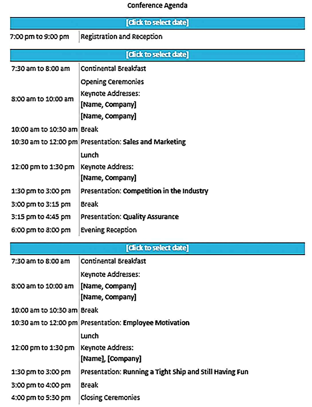 Template Seminar Conference Format Sample