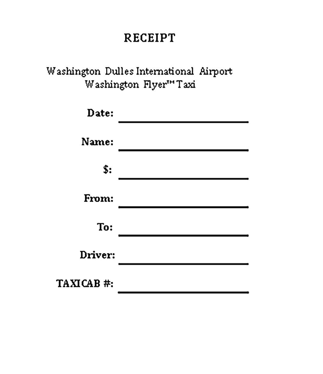 Sample Printable Tax Receipt 1 Templates