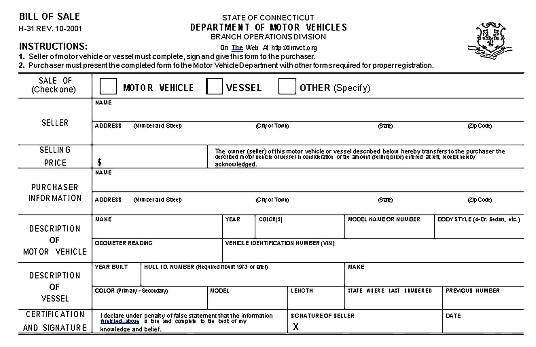 Sample motorcycle bill of sale form Templates