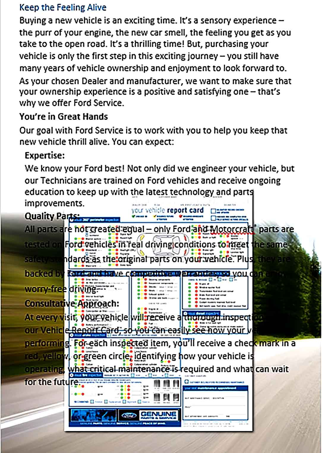 Template Ford Maintenance Schedule Sample