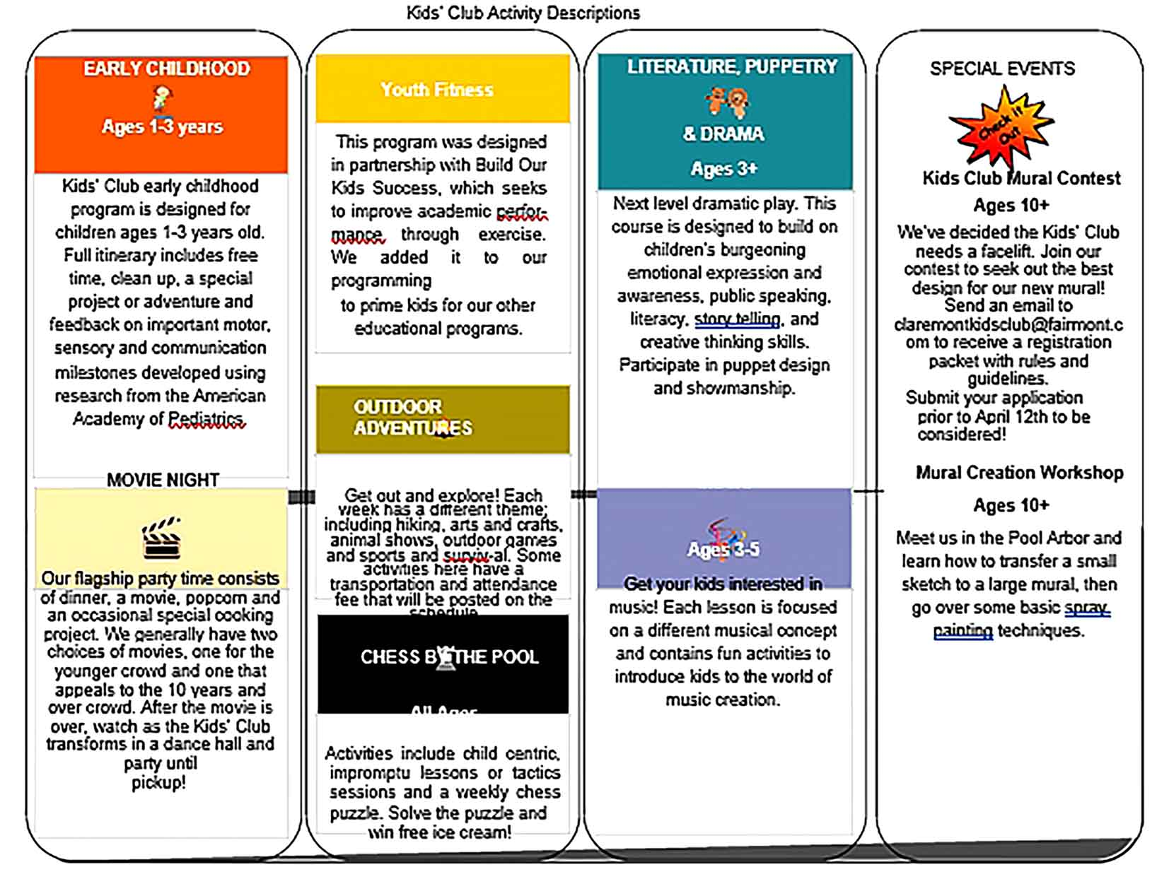 Template Kid's Activity Sample