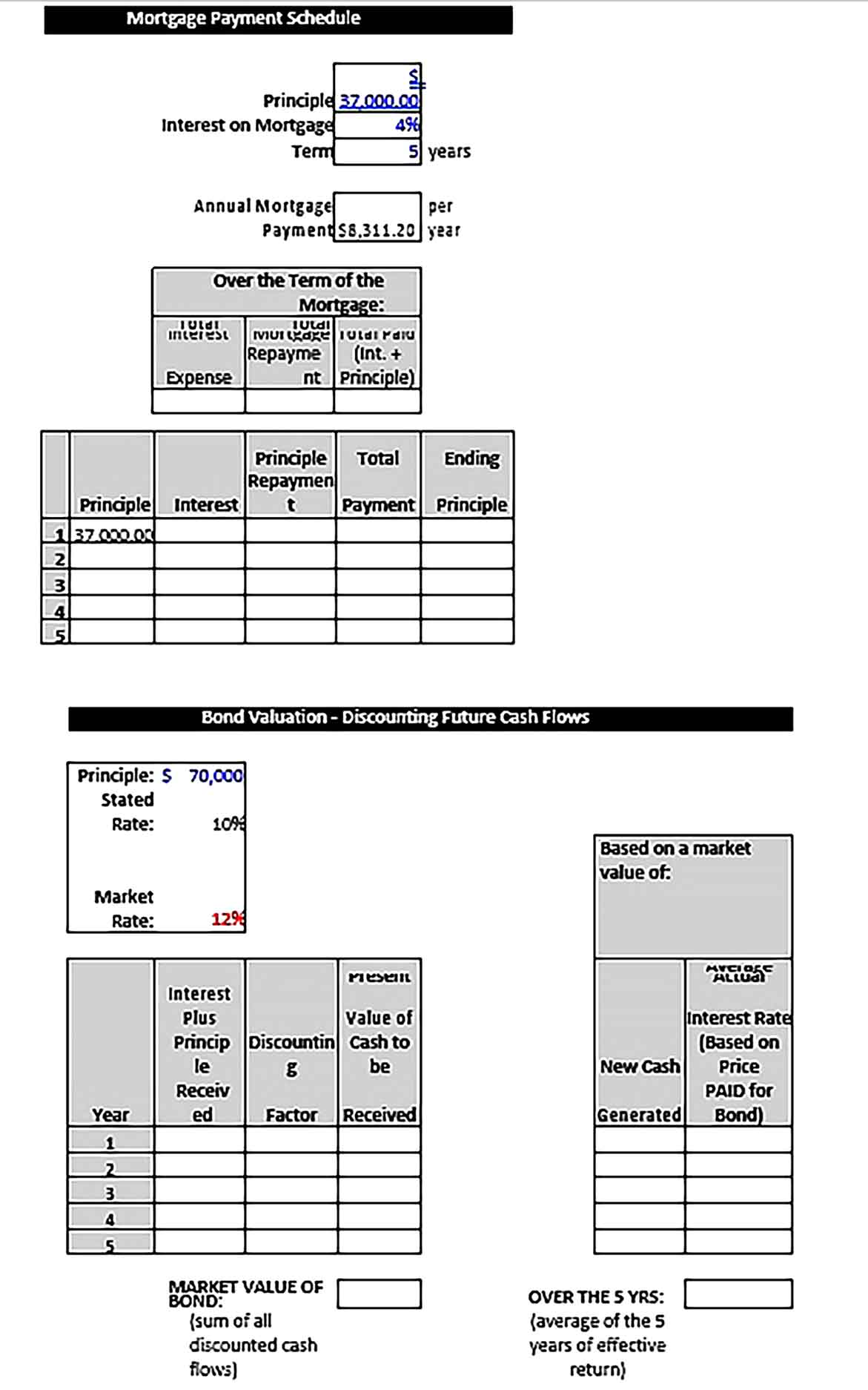 Template Mortgage Payment Schedule Sample