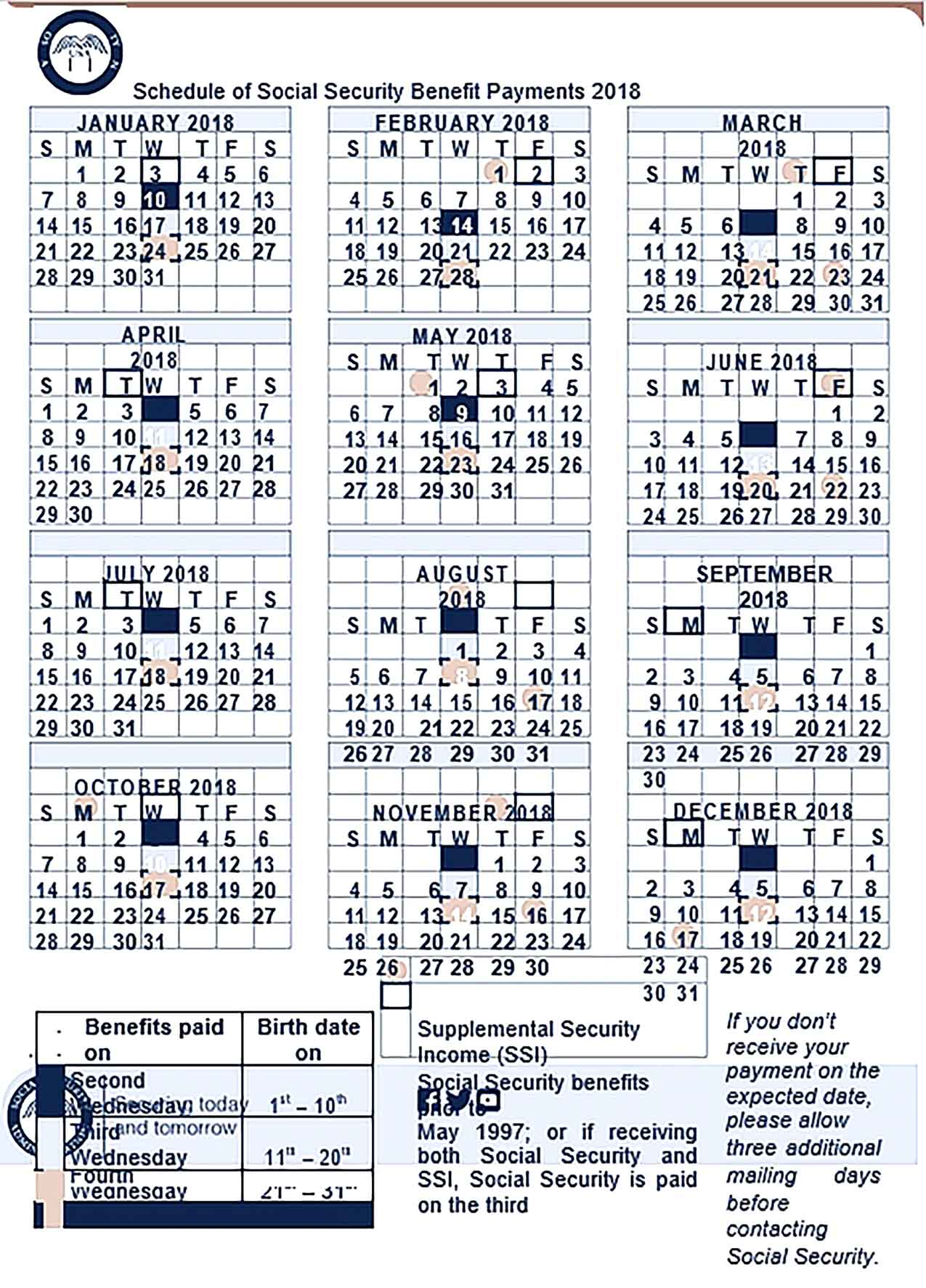 Template Schedule Of Social Security Benefit Payments Sample