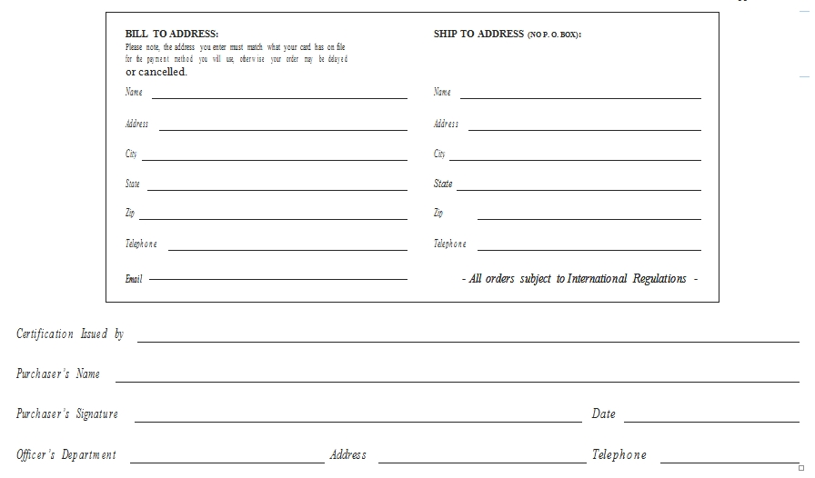 Templates Standard Purchase Program Order Example