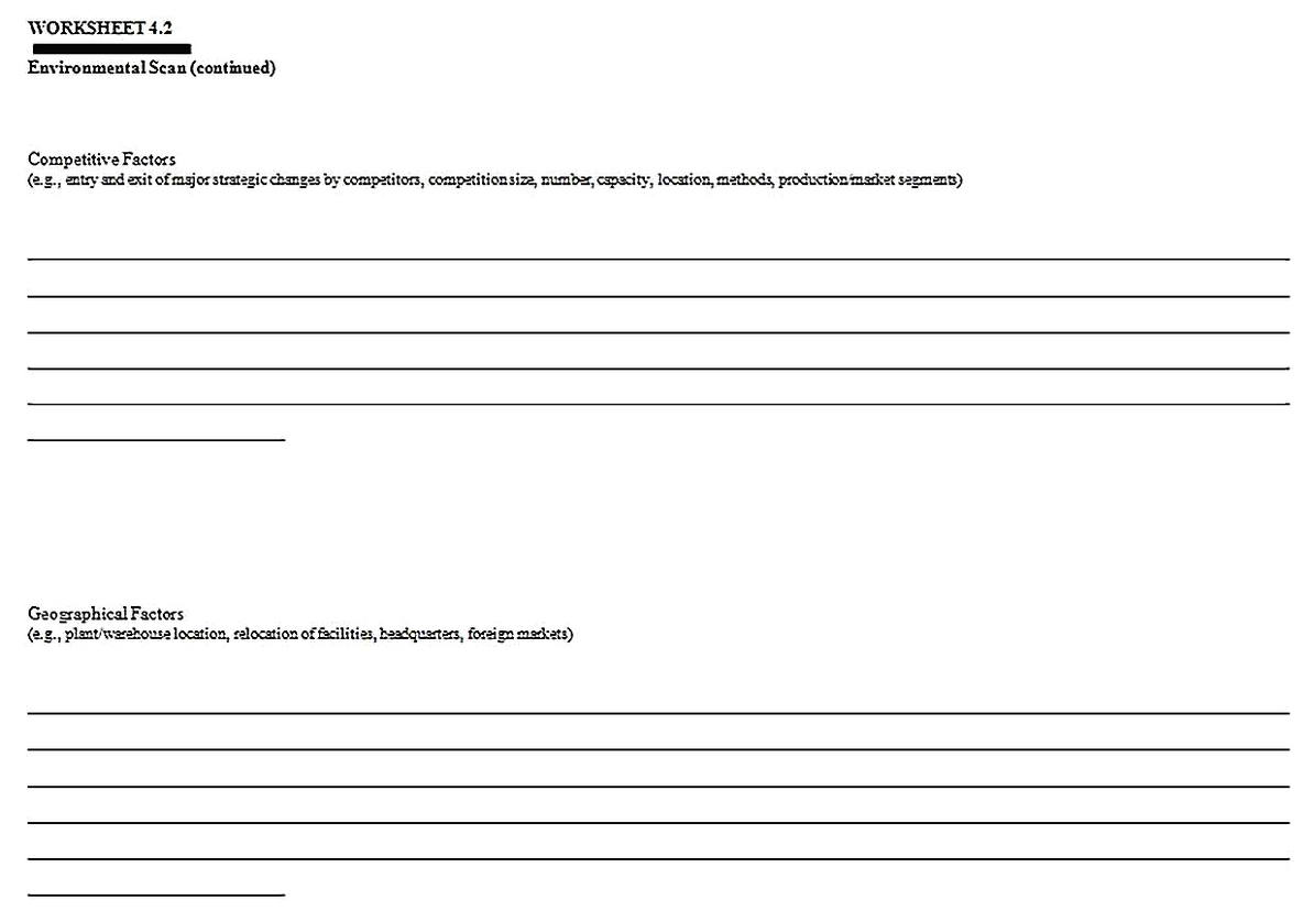 Templates for Industry Competitive Situation Analysis 4 Sample 1