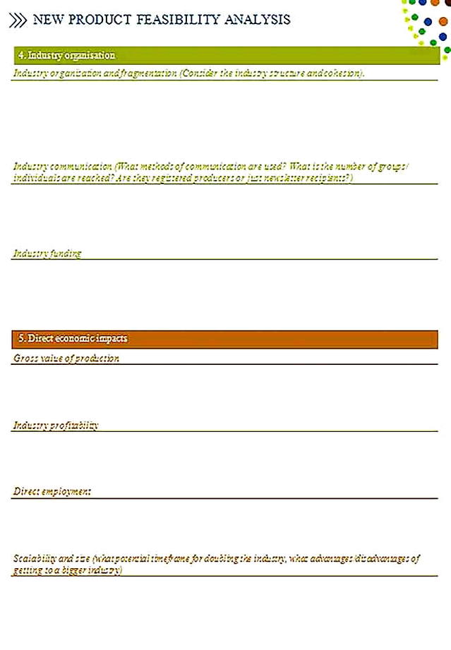 Templates for Product Feasibility Analysis 6 Sample