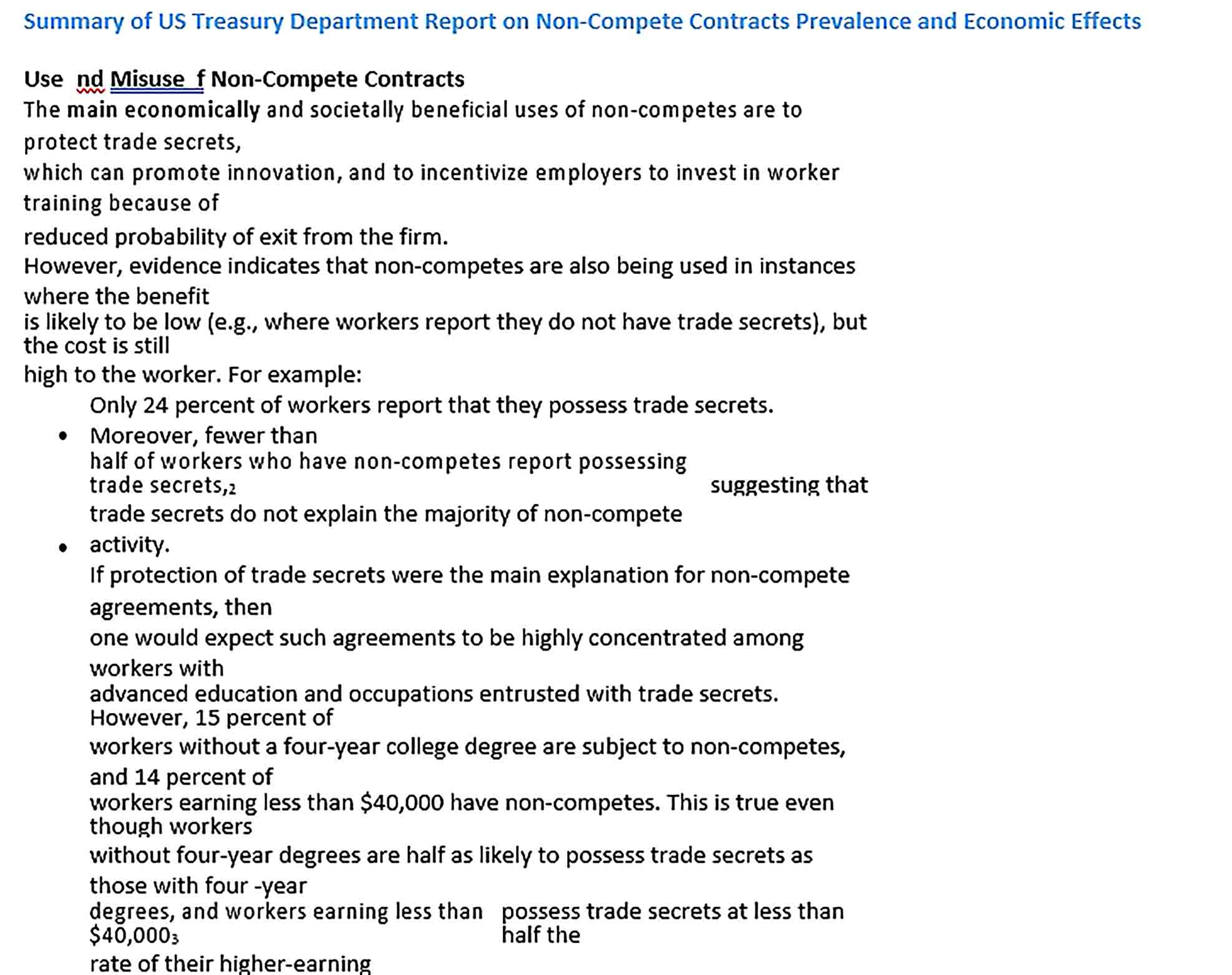 Sample Workers Non Compete Agreement